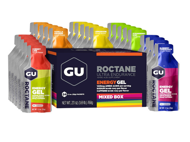 GU Energy Roctane Gel Mix Mixed Box 24 x 32 g